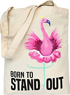 3f277c212e63 Pink Flamingo Tote Bag Printed Eco Canvas Cotton Handbag for Beach Women  Girls Gift