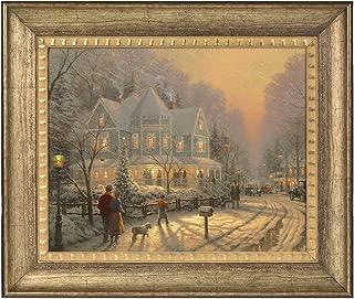 Thomas Kinkade A Holiday Gathering 16 x 20 Brushstroke Vignette (Burnished Gold)