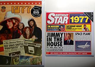 1977 Birthday Gifts Pack - 1977 DVD Film , 1977 Chart Hits CD and 1977 Birthday Card