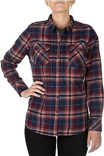 5.11 Tactical Women's Heartbreaker Flannel Shirt, 100% Polyester, Hidden Pockets, Style 62382