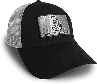 Strange Cargo Don't Tread On Me America U.S.A. Flag Black and Grey Baseball Cap Hat Snapback