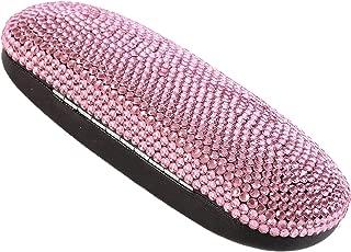 Handmade Lovely Pink Bling Crystal Eyeglasses Case Cute Rhinestone Gift Reading Glasses Box For Lady,Girl,Friends,Women