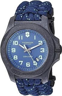 Men's I.N.O.X Carbon Swiss Quartz Sport Watch with Nylon Strap, Gray, 24.7 (Model: 241861)