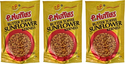 P.nuttles Butter Toffee Sunflower Kernels 4.5 oz - Pack of 3 (Sunflower Seeds)