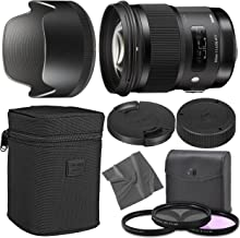 Sigma 50mm f/1.4 DG HSM Art Lens for Nikon F with AOM Starter Kit, Sigma Case, Hood, Ultraviolet Filter (UV) Polarizing Filter (CPL) Fluorescent Daylight Filter (FL-D) - International Version