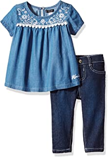 kensie Baby Girls' Fashion Top and Pant Set