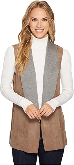 Tribal - Bonded Suede Sleeveless Reversible Vest