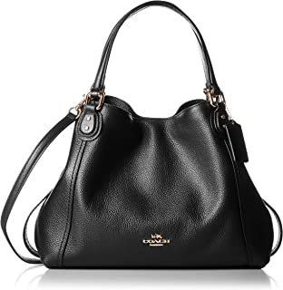 Coach Womens Polished Pebble Leather Edie 28 Shoulder Bag