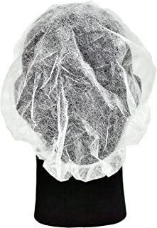 G & F Products 13040-100 Disposable Bouffant Caps Hair Net, Spun-Bonded Polypropylene, Non-Woven, Medical, Labs, Nurse, Tattoo, Food Service, Health, Hospital, White, 100/Sleeve