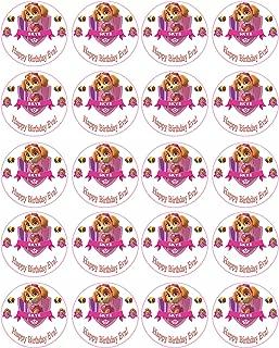 PAW PATROL SKYE (Nr1) - Edible Cupcake Toppers - 1.8