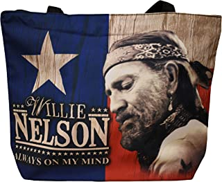 Willie Nelson Large Tote Bag - Always on My Mind