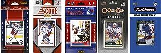 NHL New York Rangers 男式 5 种不同的*交易卡队套装,白色