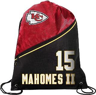 FOCO - Kansas City Chiefs High End Diagonal Drawstring Backpack Gym Bag - Patrick Mahomes #15