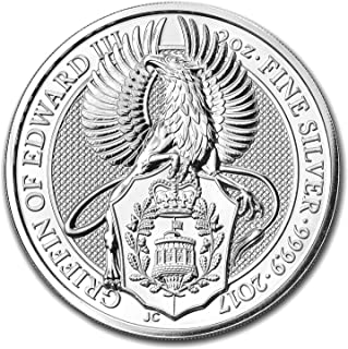 2017 UK Great Britain 2 oz Silver Queen's Beasts (The Griffin) Silver Brilliant Uncirculated