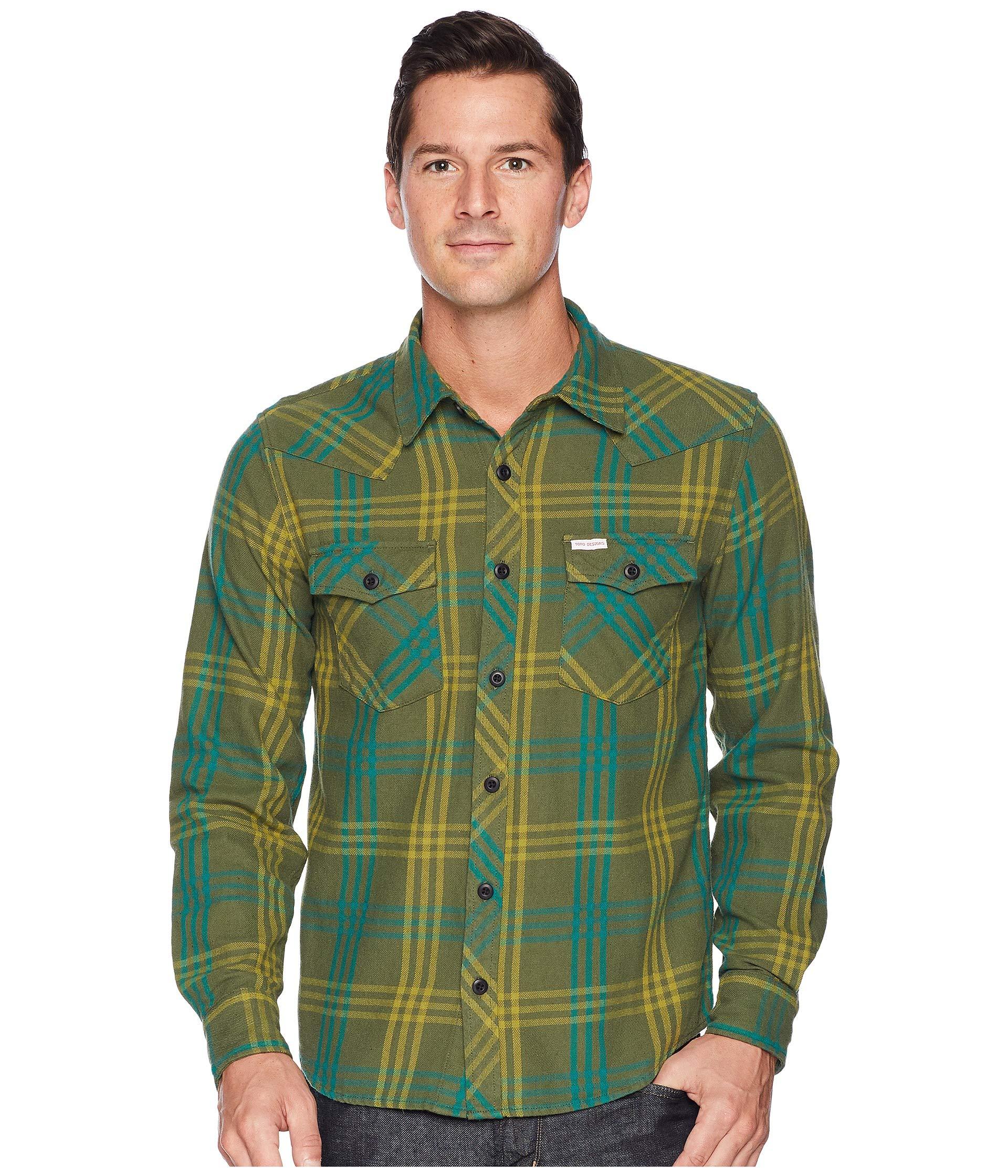 Mountain Shirt Designs Green Topo Plaid qwn6TU5C