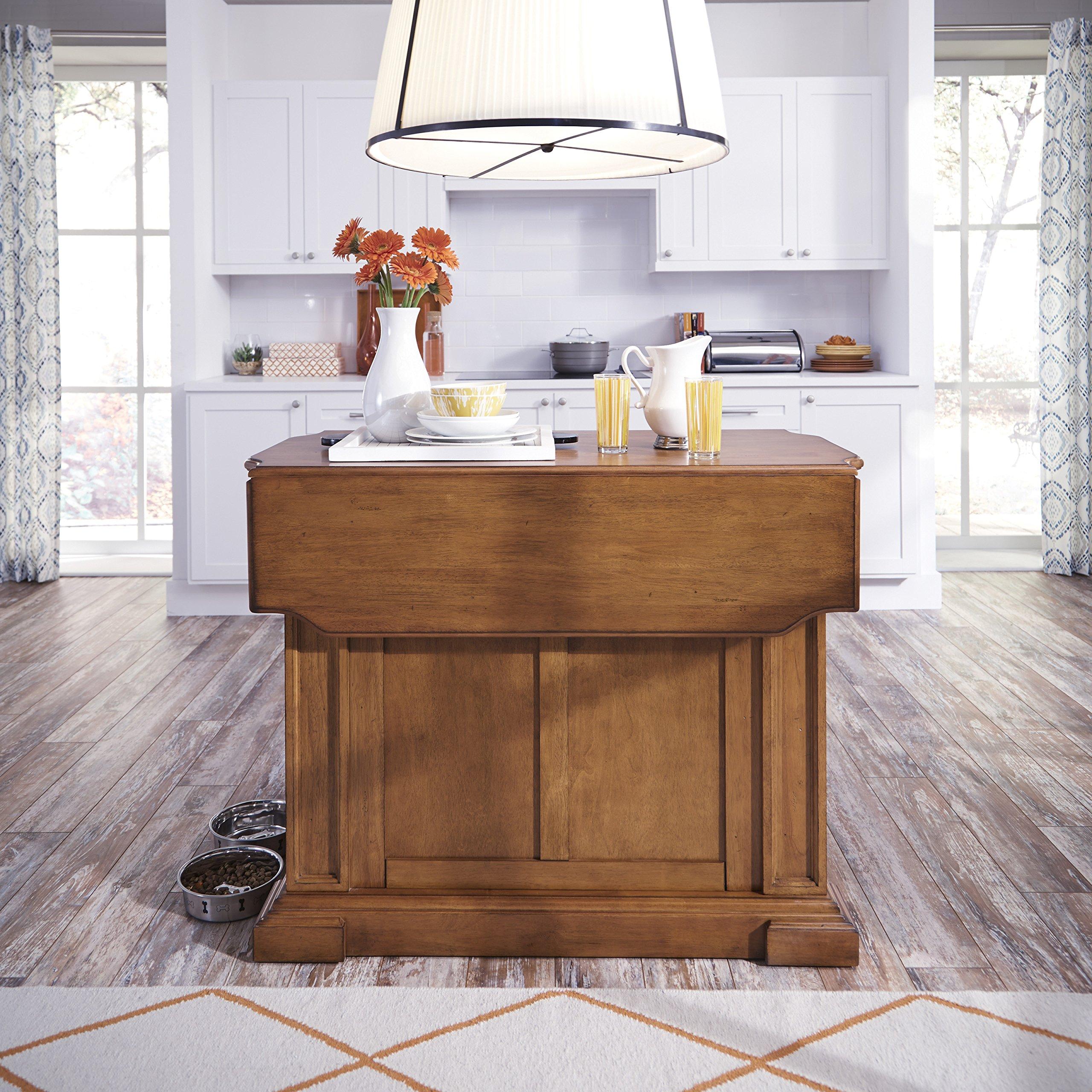 Amazon Com Americana Oak Kitchen Island By Home Styles Furniture Decor