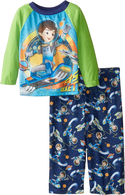 Disney Little Boys Miles from Tomorrowland Lets Rocket - Conjunto de pijama de 2 piezas