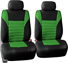 FH Group FB068GREEN102 Green-Half Universal Bucket Seat Cover (Premium 3D Air mesh Design Airbag Compatible)