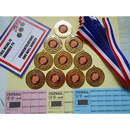 CRICKET 50 MM METAL MEDALS WITH RIBBON//SET= 15 WITH CERTIFICATES//SCRATCH CARDS