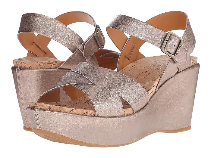 70s Shoes, Platforms, Boots, Heels Kork-Ease Ava 2.0 Soft Gold Womens Wedge Shoes $144.95 AT vintagedancer.com