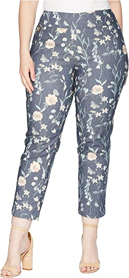 "Plus Size Japanese Garden Ankle Pants ""Curvy Collection"""