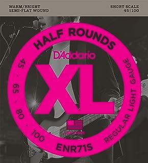 D'Addario ENR71S Half Round Bass Guitar Strings, Regular Light, 45-100, Short Scale