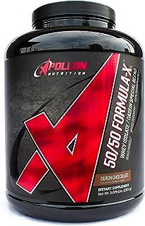 Apollon Nutrition 50/50 Formula-X | Whey Isolate and Casein Protein | 5 lb (Dutch Chocolate)