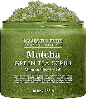 Matcha Green Tea Body Scrub for All Natural Skin Care - Exfoliating Multi Purpose Body and Facial Scrub Moisturizes and No...
