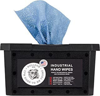 Bulldog Heavy-Duty Hand Wipes, Grease Wipes, Hand Cleaner Wipes, Cleaning Wipes, Paint Wipes, Industrial Cleaning Wipes, Waterless Hand Cleaner, Disinfecting Wipes 6 X 8 Inches, 70 Wipes, 2 Pack…