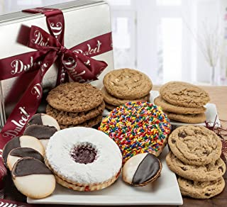 Gourmet Assortment All Flavor Cookie Tin Box, For Every Special Occasion – Holiday, for Men and Women, By Dulcet Git Baskets.