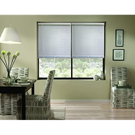 Amazon Com Windowsandgarden Cordless Aluminum Mini Blinds 24w X 36h Silver Custom Sizes From 18 To 72 Wide Home Kitchen