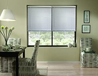 Windowsandgarden Cordless Aluminum Mini Blinds, 72W x 43H, White, Custom Any Size from 18 to 72 Wide