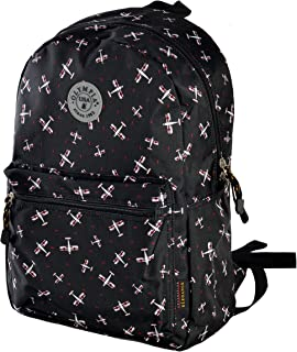 """Olympia Cornell 18"""" Backpack, Black Plane, One Size"""