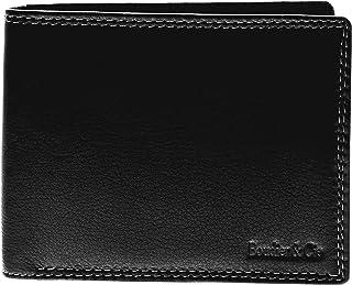 Boudier&Cie Bifold Wallet for Men - Leather, Black (W-1501br)