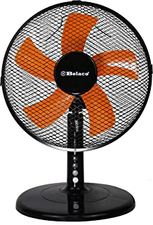 Belaco 12inch Table Fan Desk Fan with 3 Speed Oscillating cooling fan Stand Fan floor fan Low Noise Strong Resistant Base ...