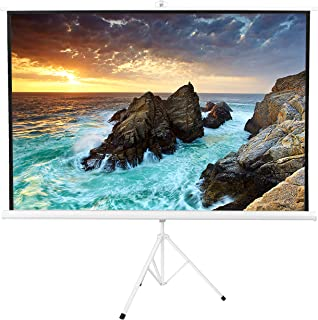 VIVO 100 inch Portable White Frame, Indoor Outdoor Projector Screen, 100 inch Diagonal Projection HD 4:3 Projection Pull Up Foldable Stand Tripod (PS-T-100W)