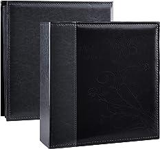 آلبوم عکس Artmag Picutre 4x6 400 عکس ، آلبوم عکس خانواده عروسی با ظرفیت چرم فوق العاده بزرگ دارای 400 عکس افقی و عمودی 4x6 با صفحات سفید (سیاه)