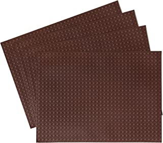 Benson Mills Circle Faux Leather Placemat in Chocolate, Set of 4