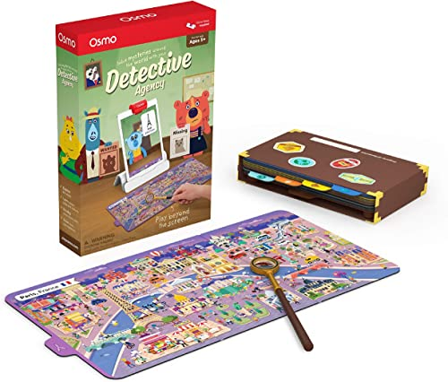 Osmo 902-00011 - Detective Agency - Ages 5-12 - Solve Global Mysteries - STEM Toy - For iPad or Fire Tablet ( Base Re...