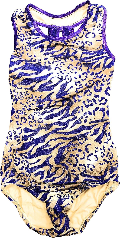 Nickanny's Girls Designer Arlington Mall Fashion Max 78% OFF Dancewear Print Tank Gymnastic