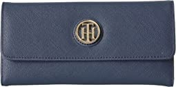 Tommy Hilfiger - TH Serif Signature Large Flap Wallet