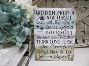 Surprising Wood Sea Turtle Sign Wisdom from a Sea Turtle Beach Sign Sea Turtle Advice Beach House Decor Beach Lover Gift Beach House Sign