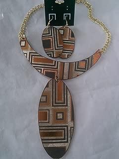 Aztec Oval Chest Plate necklace set