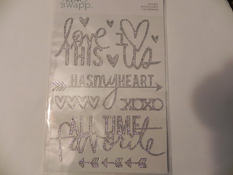 Heidi Swapp Glitter Stickers Silver