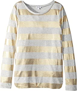 Splendid Littles - Foil Printed Heather Modal Top (Big Kids)