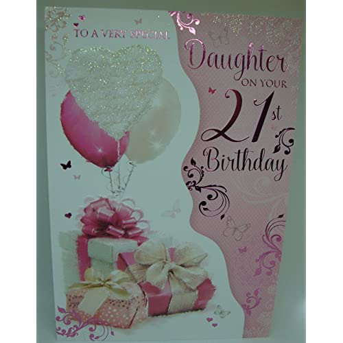 To A Very Special Daughter On Your 21st Birthday Large Card Lovely Verse