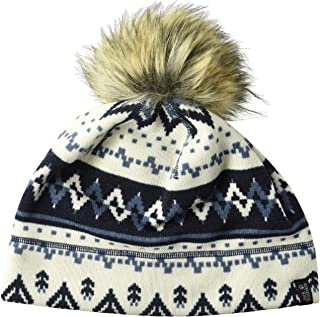 Jack Wolfskin Women's Scandic Fleece Beanie with Faux Fur Pom-Pom Hat