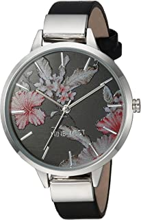 Women's Silver-Tone and Black Strap Watch