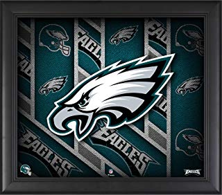 "Philadelphia Eagles Framed 15"" x 17"" Team Threads Collage - NFL Team Plaques and Collages"