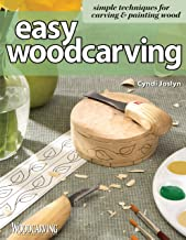 Easy Woodcarving: Simple Techniques for Carving and Painting Wood (Fox Chapel Publishing) Beginner-Friendly Guide to Getting Started; Step-by-Step Instructions, Skill-Building Exercises, and Projects